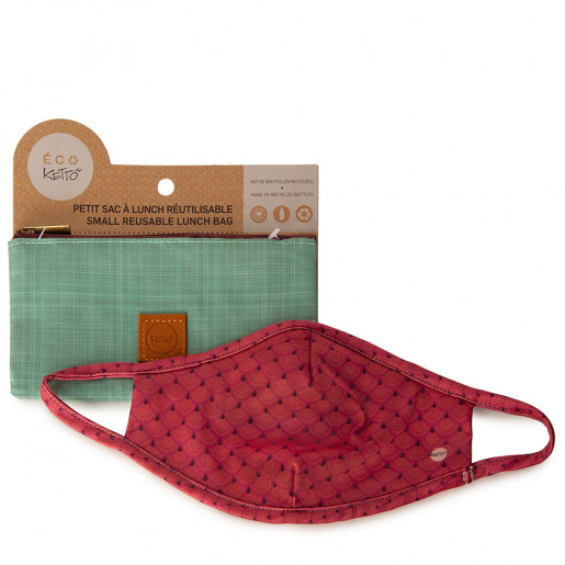Duo Face mask and pouch | Red scales
