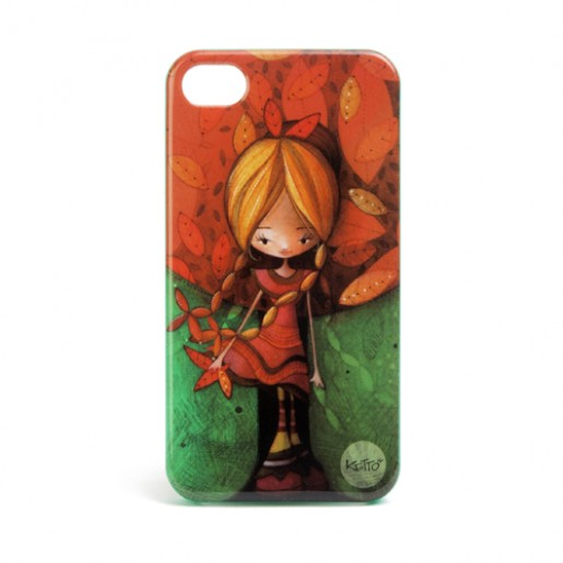 iPhone 4 case Fall girl