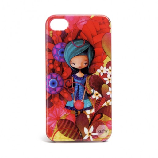 iPhone 4 case Blue lady