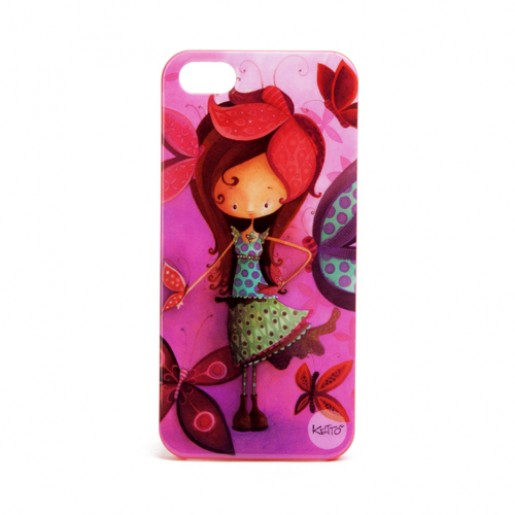 iPhone 5 case Butterfly girl