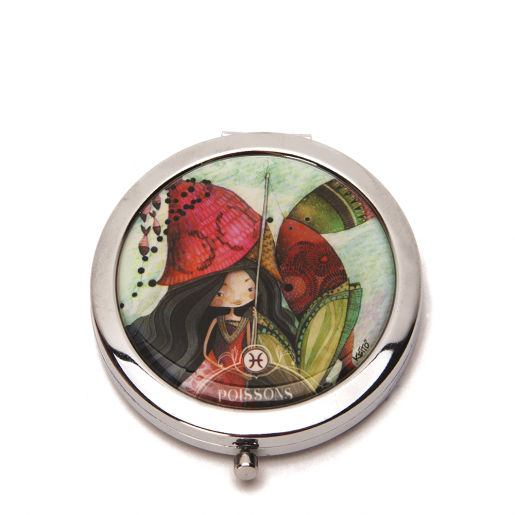 Pocket mirror Zodiac- Pisces