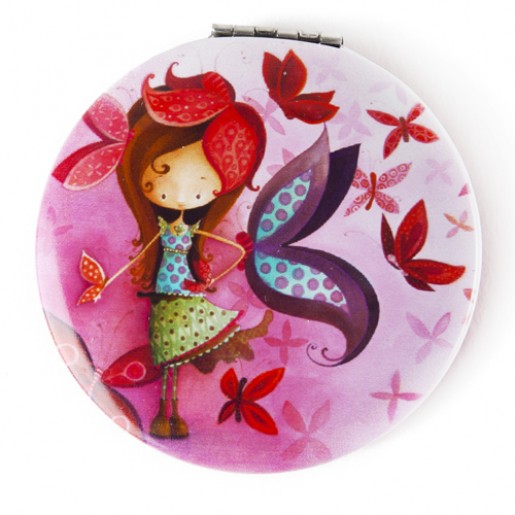 Pocket mirror Butterfly Girl