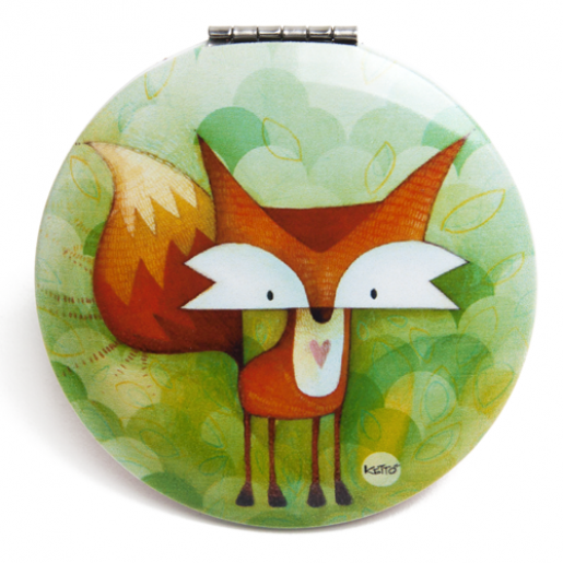 Pocket mirror Fox