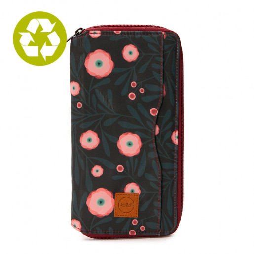Large Passeport Holder Pink Poppy