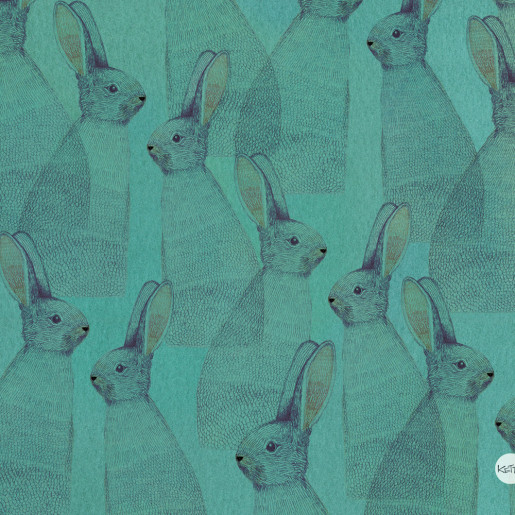 Wallpaper | Turquoise rabbits