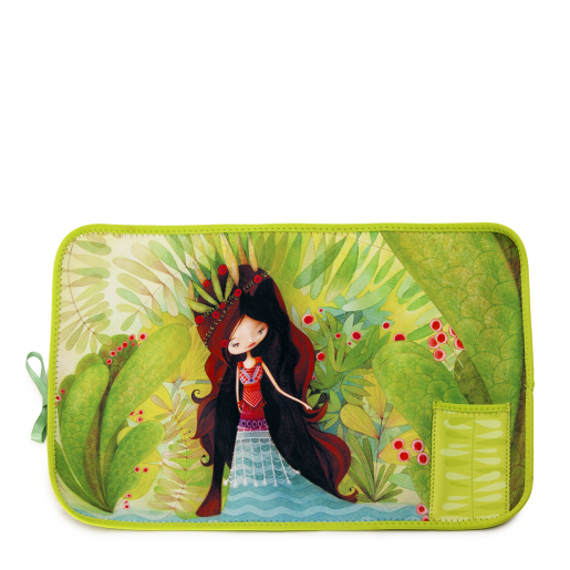 Fabric placemat Wolf lady