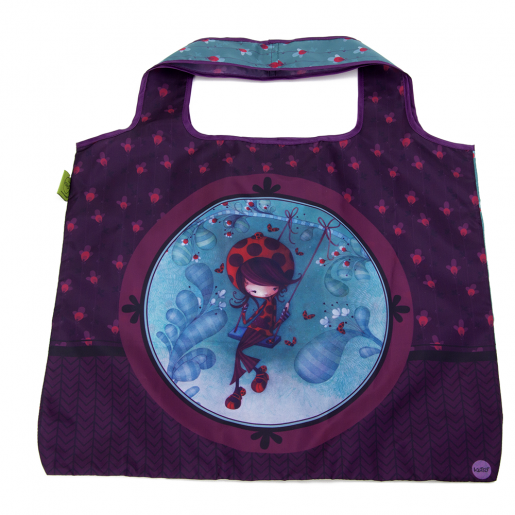 Foldable shopping bag Daphné Ladybug