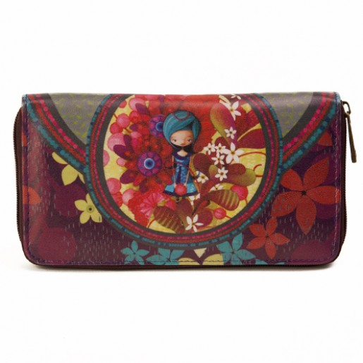 Wallet Blue lady