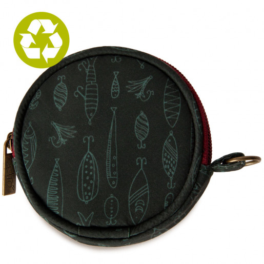 Round coin purse | Fishing