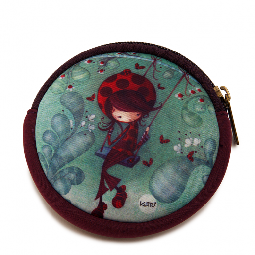 Round coin purse Daphné the Ladybug