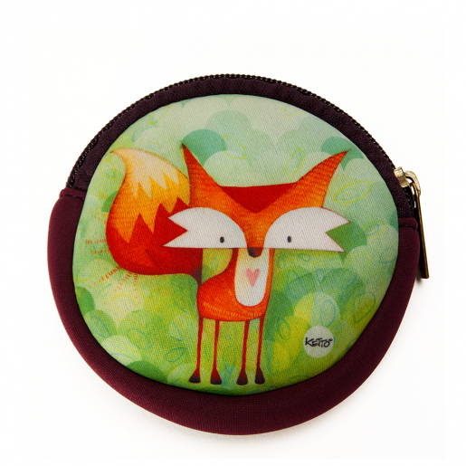 Round coin purse Fox