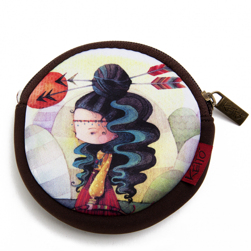 Round coin purse Alisma