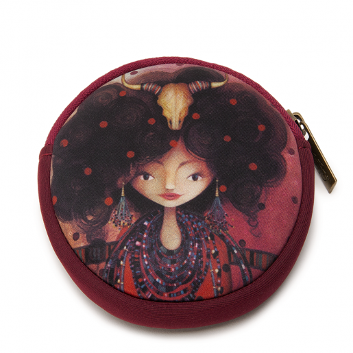 Round coin purse Aïda