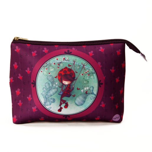 Cosmetic bag jumbo Ladybug on a swing