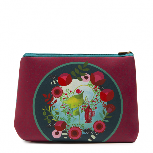 Cosmetic bag jumbo Kiwi the cat