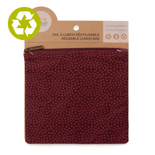 Medium zero waste pouch Burgundy Pea