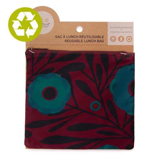 Medium zero waste pouch Turquoise Poppy