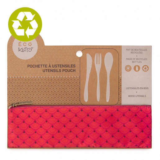Zero waste utensils pouch Lilia pattern