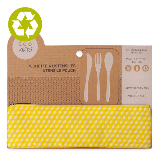Zero waste utensils pouch Daredevils pattern