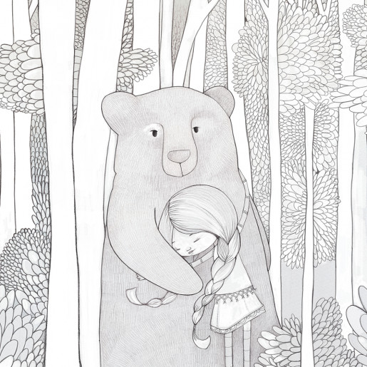 Coloring page | Bear encounter