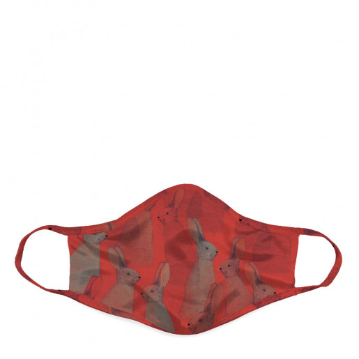 Face mask | Red rabbits