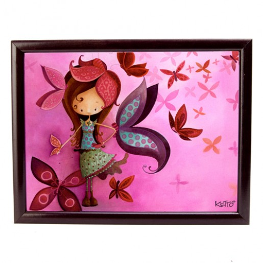Cushioned lapdesk Butterfly Girl