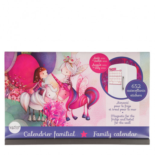 magnetic family calendar 2021-2022 ketto
