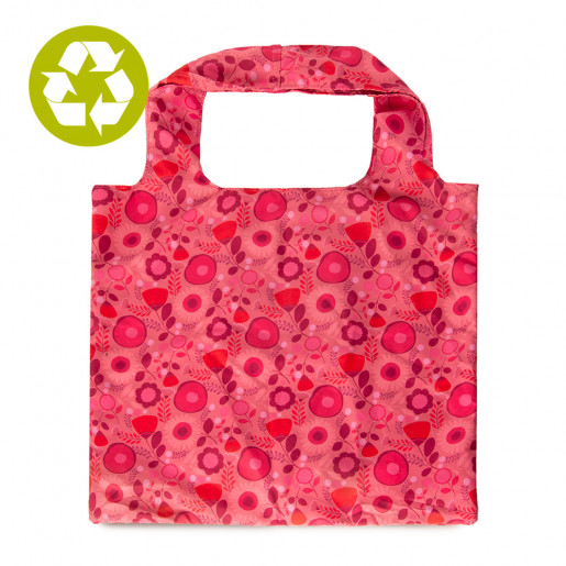Zero waste | Foldable shopping bag | Pink flowers