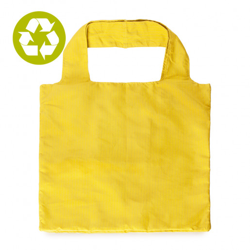 Zero waste | Foldable shopping bag | Yellow knit