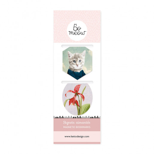Magnetic bookmarks GardenSo Meow