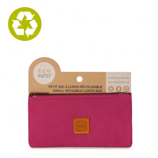 Small zero waste pouch Pink Dots