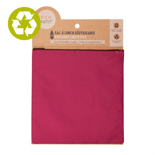 Large zero waste pouch Pink Dots