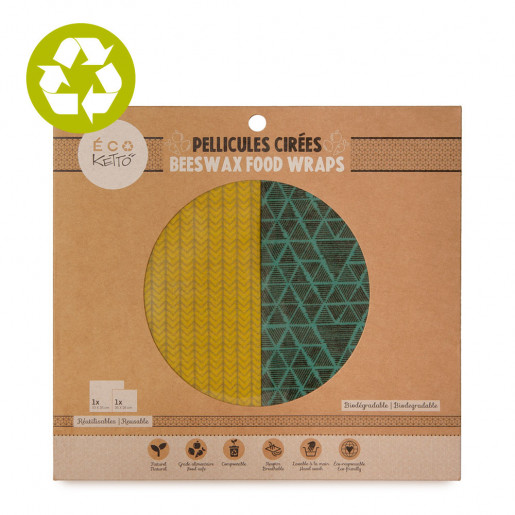 Beeswax food wraps duo Yellow Knit