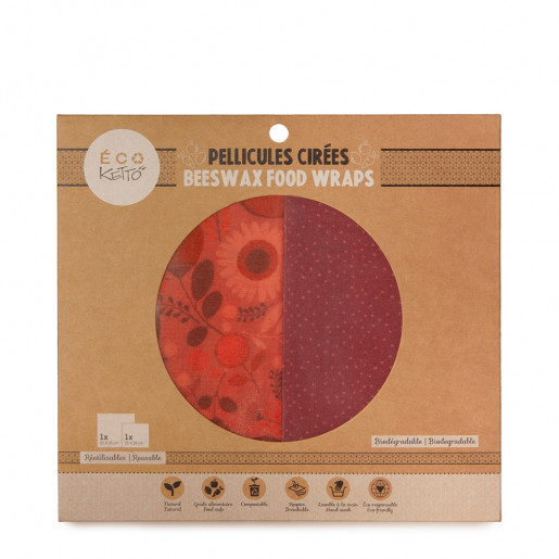 Zero waste | Beeswax food wraps duo | Pink flowers