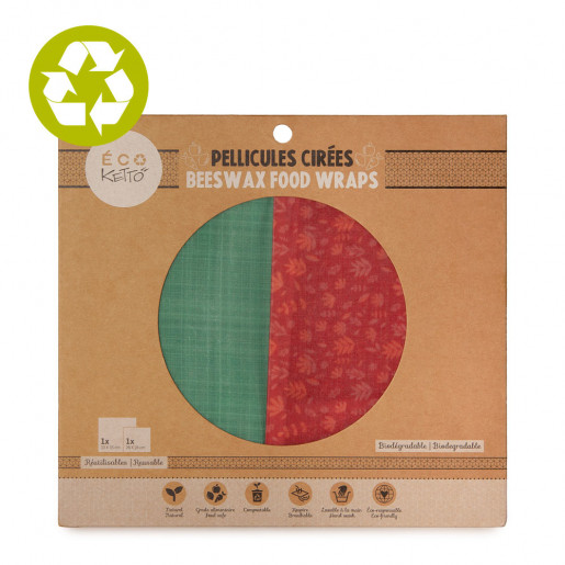 Beeswax food wraps duo Blue Woven
