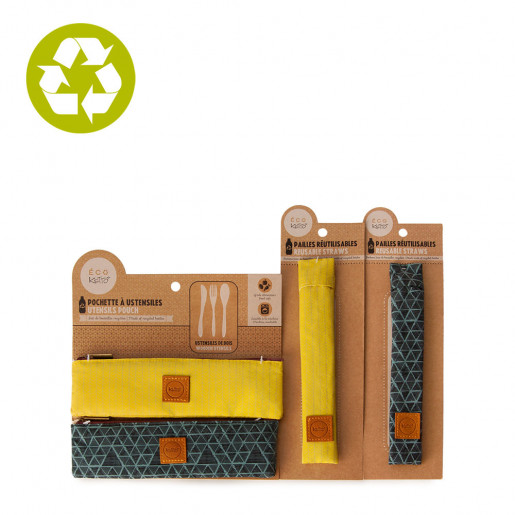Zero waste | Starting pack Utensils and straws | Dots and wooven
